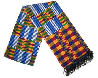 African Kente fabric scarf