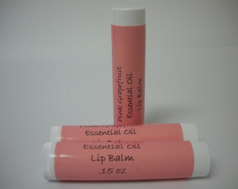 Shea Butter Beeswax Pink Grapefruit Lip Balm