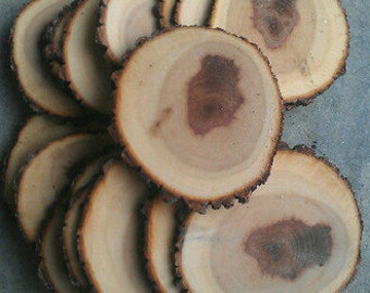 15 5-6 Rustic Wood Tree Slices Wedding Decor SOURWOOD Disc Log Round LARGE