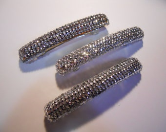 3 Large Blinged-Out Barrettes