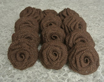 Brown Burlap Flowers, Chocolate Brown Burlap flowers, Brown Burlap Roses, Burlap Flowers, Brown Burlap, Burlap Roses