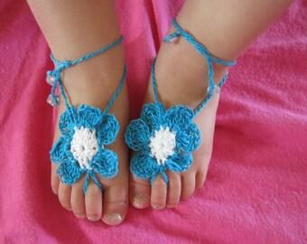 Barefoot Sandal Toe Gemz Teal