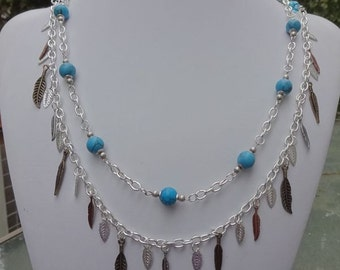 Feathered Turquoise Necklace