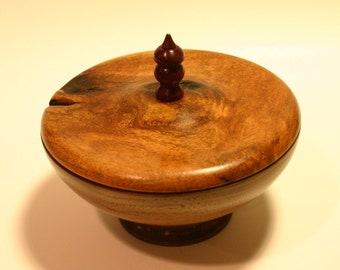 Walnut and Mesquite Lidded Bowl