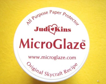 1 SAMPLE SIZE Jar Judi Kins Microglaze .15 oz. Protector to Seal Photos and artwork before using resin, a must for photo jewelry