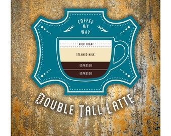 Coffee Poster by Im Different Press - Double Tall Latte