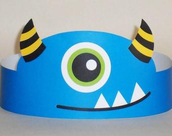 Monster Paper Crown - Printable