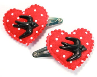 Swooping Swallow Hair Clips