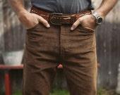 Levis 646 Corduroys Pants, Brown, Vintage 70's,  Like New (34X31) - vintagevictim1976