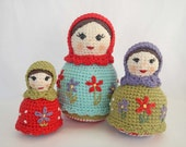 Crochet Doll Pattern for Amigurumi Matryoshka Dolls, Russian Nesting Dolls PDF Instant Download - HerterCrochetDesigns