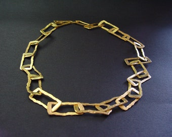 Sterling Silver necklace ,gold platet