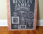 First Birthday Chalkboard Poster/Sign Printable -Digital-  Baby/Child Growth/Milestones
