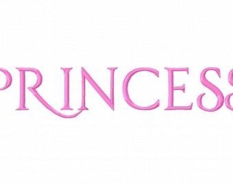 Princess Machine Embroidery Font 1270