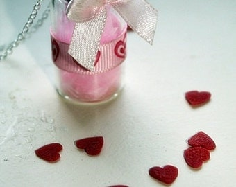 vial necklace - Love me