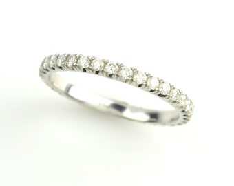 0.50ct Diamond Eternity Band Ring in 14k, white, yellow or rose gold.