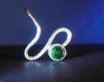 Sterling Silver Serpentine Birthstone Pendant