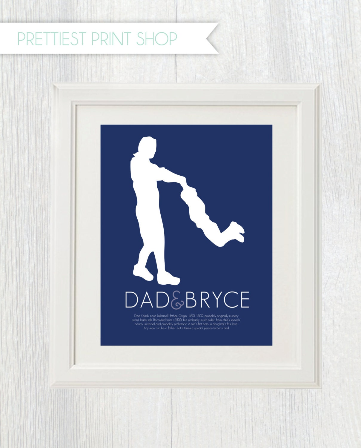 Printable Father And Child Silhouette Dad Definition