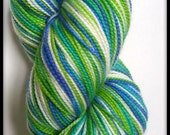 Bliss Sock Yarn - 'Kismet' (100 Superwash Merino Wool) Hand-dyed Sock/Fingering Yarn
