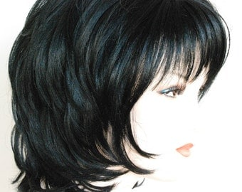 Jet black / short layered wig for any on the go occasions