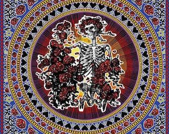 Grateful Dead Skull & Roses - Tapestry Wall Hanging