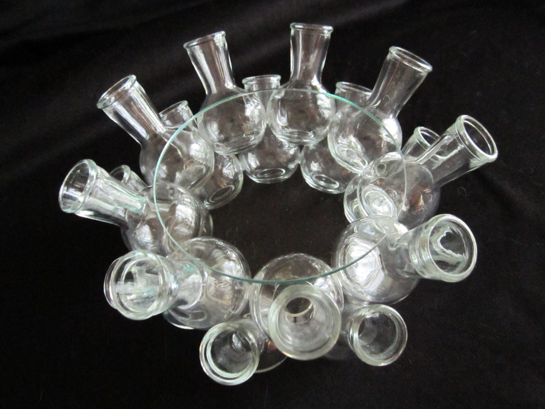 Wedding table centerpiece glass bottle table unique ornate for Glass bottle centerpieces