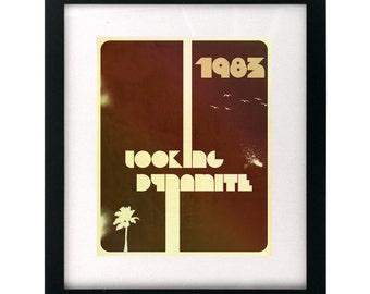 1983 - Neon Trees.  Song Lyric Art Print wall hanging, home decor, wedding gift idea