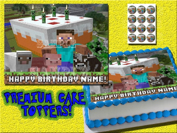 Edible Cake Images Minecraft : Unavailable Listing on Etsy