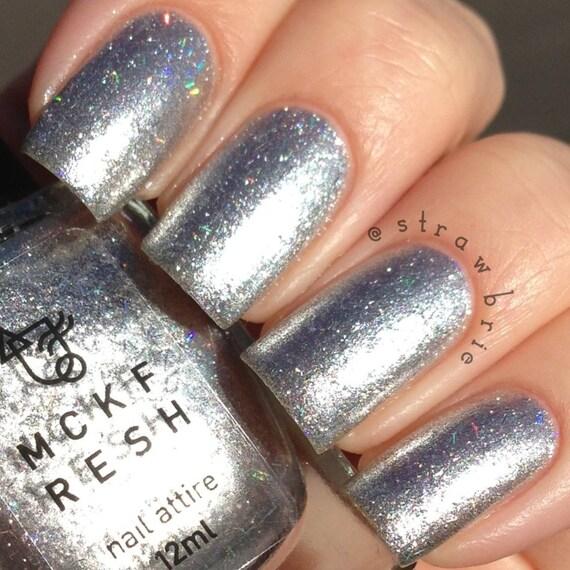 Metallic Nail Polish Silver: Laser Pointers Indie Nail Polish Silver Metallic With