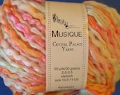 "Handspun ""Musique"" Crystal Palace Wool, Cotton & Acrylic Yarn in ""Tulips 9771"" Color"
