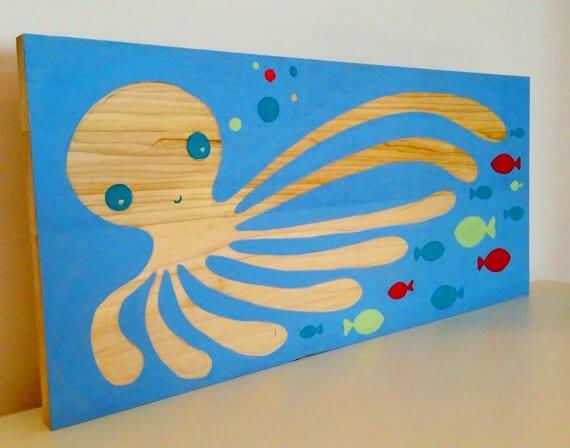 Ocean Wall Decor For Nursery : Items similar to octopus ocean theme nautical nursery