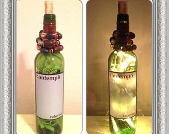 Contempo wine bottle lamp