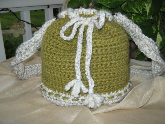Crochet Pattern For Bucket Bag : Crochet Bucket Bag Green