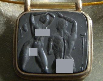 "Erotic pendant  ""PHOTOGRAPHER and MODEL"""