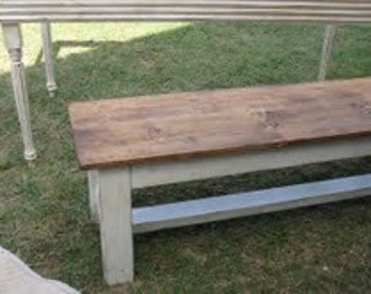 Primitive Style Bench - Medium Stain