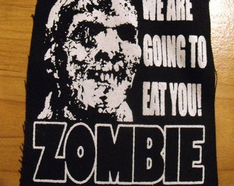 ZOMBIE patch lucio fulci  zombies horror movie Free Shipping