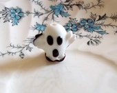 Hand Blown Glass Ghost Focal Point Bead
