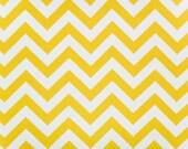 SALE - Ships Same Day Premier Prints Zig Zag Corn Yellow Fabric - Yellow & White Chevron Fabric - By the Yard