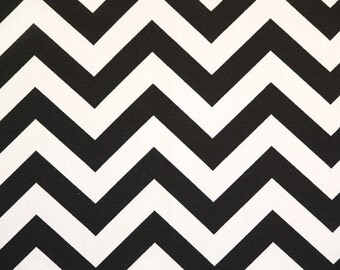 SHIPS SAME DAY Premier Prints Zig Zag Black Fabric - Black and White Chevron Fabric - Fabric by the 1/2 yard