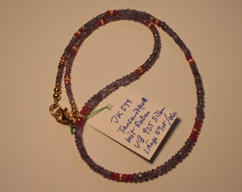 Tanzanite Necklace  with Ruby (JK 599)