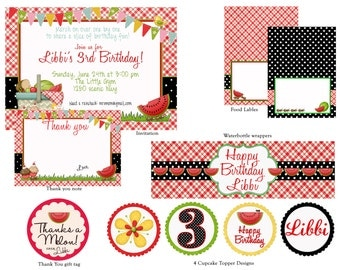 Picnic Birthday Party Pack