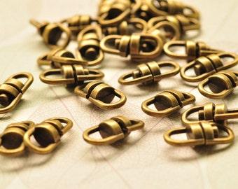 10pcs Antique Bronze Rotatable Connectors for Necklace Chains Links 20x9mm MM123