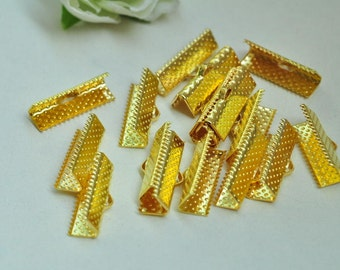 50pcs Gold Plated Fasteners Clasps 20mm XJ037