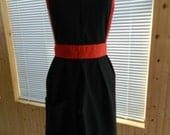 Full Apron: Black w/ Red accents (adult size)