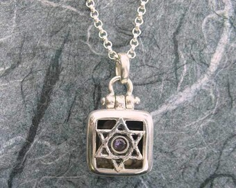 Silver Star Of David 1 Picture Locket