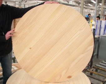 "Unfinished Pine Round 40"" For Table Top or Sign"
