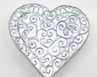 Silver love box