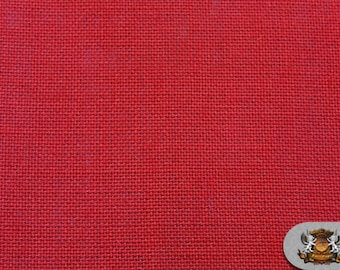 "Burlap Jute RED Fabric / 58"" / Sold by the yard"