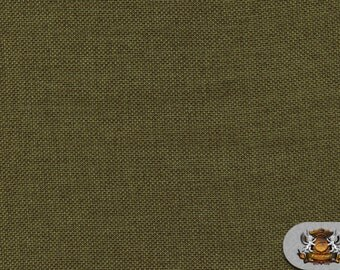 """Polyester Vintage Linen Look Olive Fabric / 60"""" Wide / Sold by the yard"""