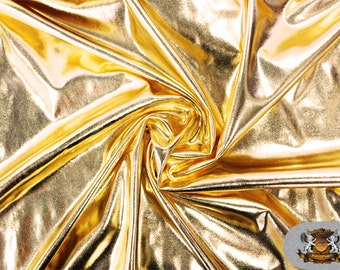 """Spandex METALLIC Gold Fabric / 60"""" Wide / Sold by the Yard"""