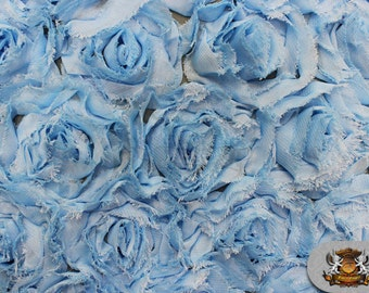"Mesh Rosette Fabric LIGHT BLUE / 54"" Wide / Sold by the yard"